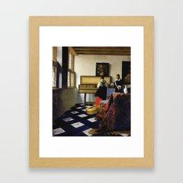 Johannes Vermeer  - The Music Lesson Framed Art Print