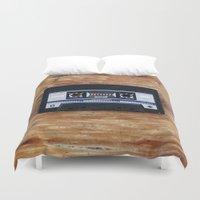cassette Duvet Covers featuring Cassette by Coconut Living