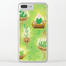 Cacti Terrariums Clear iPhone Case