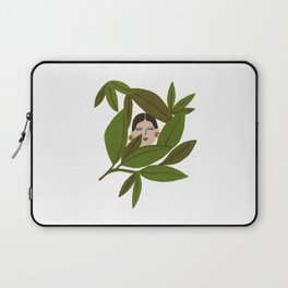 Portrait in the leaves Laptop Sleeve