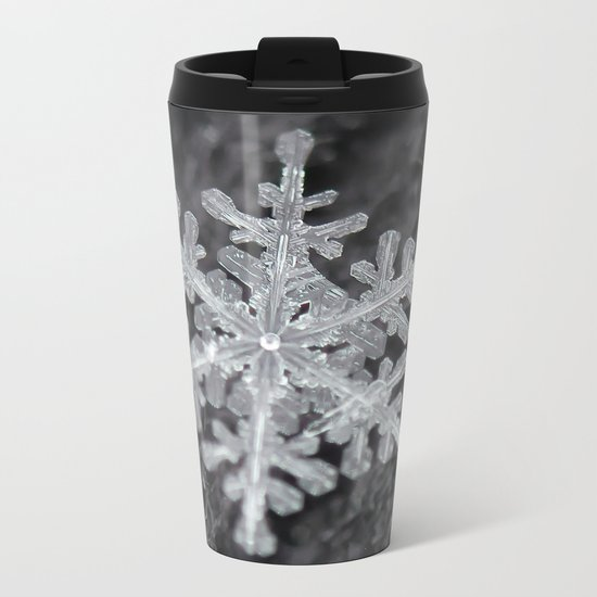 Snowflake Closeup #1 Metal Travel Mug