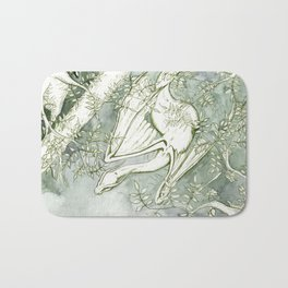 Chaudeleau the Green Marsh Dragon Bath Mat