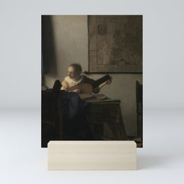 "Johannes Vermeer ""Woman with a Lute near a Window"" Mini Art Print"