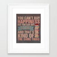 books Framed Art Prints featuring Books by thespngames