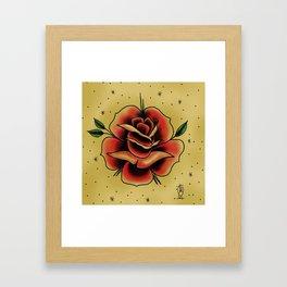rose tattoo Framed Art Print