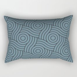 Circle Swirl Pattern Inspired by Behr Color of the Year 2019 Blueprint Blue S470-5 Rectangular Pillow
