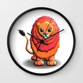 Lenny the Lioneen Wall Clock