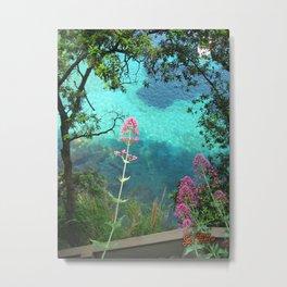 Fiori a Portofino Metal Print