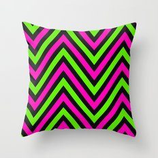 Neon Heights  Throw Pillow