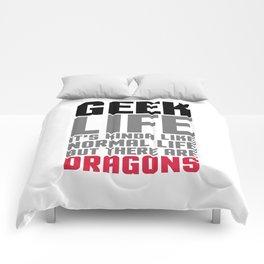 Geek Life Funny Saying Comforters
