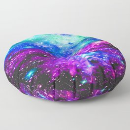 Fox Fur Nebula Galaxy Pink Purple Blue Floor Pillow