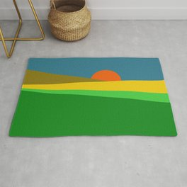 Sunset on the Field Rug