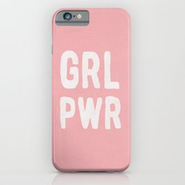 GRL PWR (pink) iPhone Case