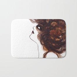 Woman ink 01 Bath Mat