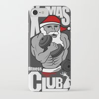 fitness iPhone & iPod Cases featuring X-mas fitness club by tshirtsz