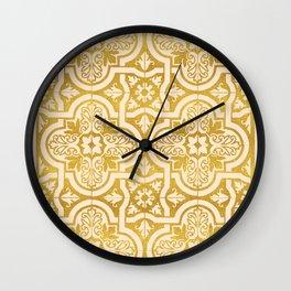 Moroccan Gold || #society6 #decor #buyart Wall Clock
