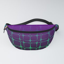 Gradient Bubble Pattern (Purple/Green) Fanny Pack