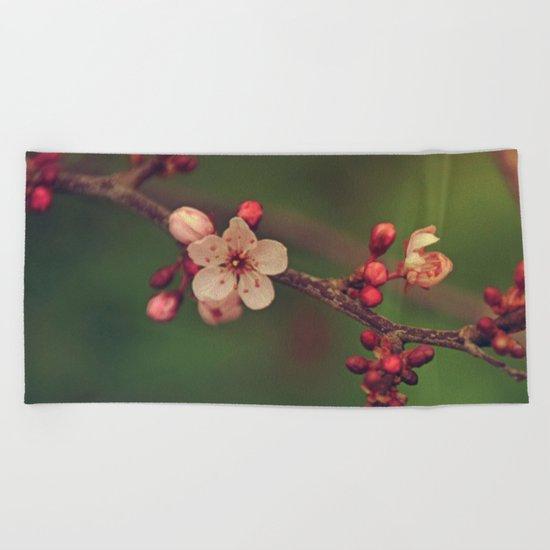 Lovely Cherry Blossom Beach Towel