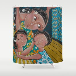 """Our Home Is Safe"" Shower Curtain"