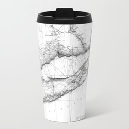 Vintage Map of Long Island NY (1877) BW Travel Mug