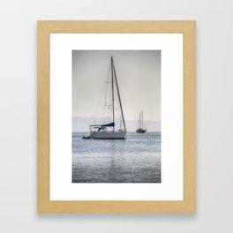 The Relaxation Yacht Framed Art Print