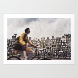 Amsterdam Bicycle Art Print