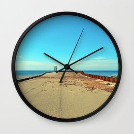Warped by the Sea Wall Clock