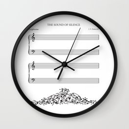 The Sound of Silence (Mono) Wall Clock