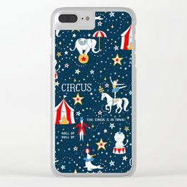 Retro Circus pattern Clear iPhone Case