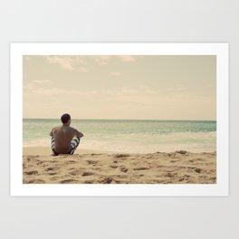 Lonely Man (Hawaii) Art Print