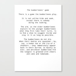 The bumberleees' game Canvas Print