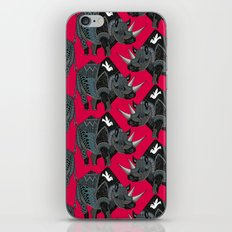 rhinoceros red iPhone & iPod Skin