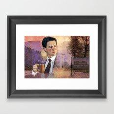 Twin Peaks , Agent Cooper Framed Art Print
