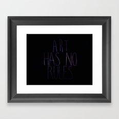 ART Rules Framed Art Print