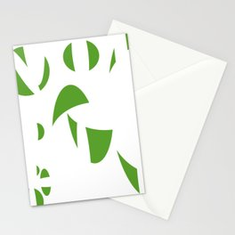 Abstract the Green Stationery Cards