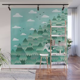 Tree Hugger (Spring & Summer version) Wall Mural