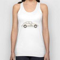 vw Tank Tops featuring Famous Car #4 - VW Beetle by Florent Bodart / Speakerine