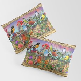 Birds and Blooms Pillow Sham