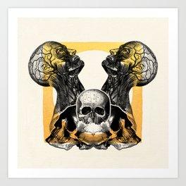 Skull Sunrise Art Print