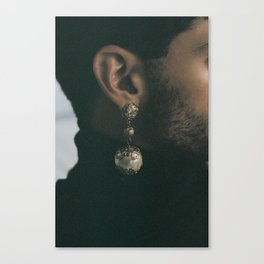 Carolina's earring on Khaled Canvas Print