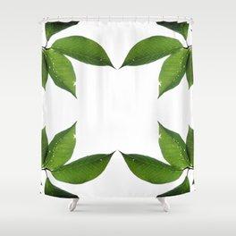 Mesmerizing Nature   Leafy Frame Up Shower Curtain