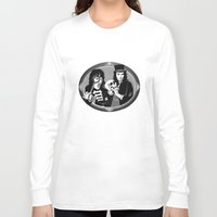 goth Long Sleeve T-shirts featuring Goth Detectives by Jenna Karl