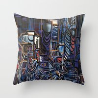 las vegas Throw Pillows featuring Vegas by Taylor deVille