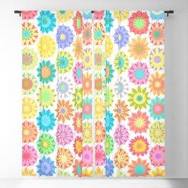 Crochet flowers Blackout Curtain