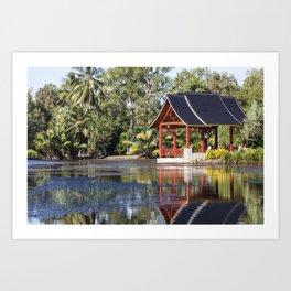 Peaceful Pagoda Art Print