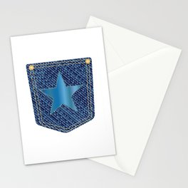 Star Denim Pocket Stationery Cards