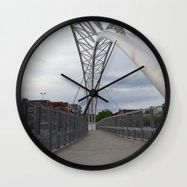 Pedestrian Bridge Crossing into Denver Highlands Wall Clock