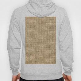Natural Woven Beige Burlap Sack Cloth Hoody
