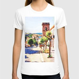 Borrello: foreshortening with bell tower T-shirt