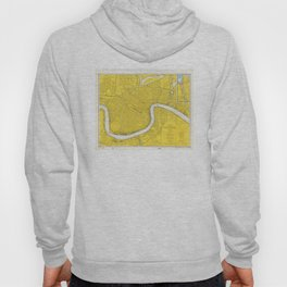 Vintage Map of New Orleans LA (1966) Hoody